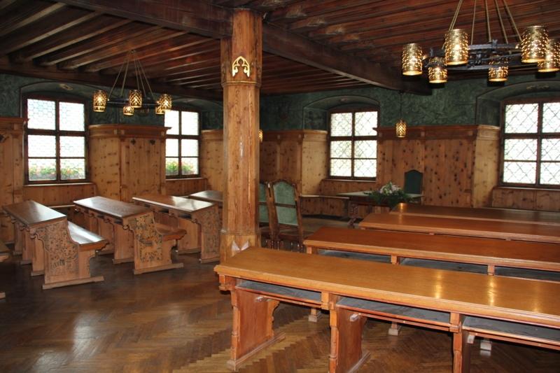 Der historische Trauungssaal im Haller Rathaus